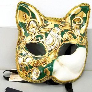 Hand Painted Musical Cat Mask